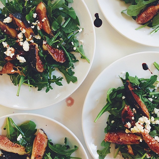 Arugula Salad With Balsamic Figs And Sheep's Feta
