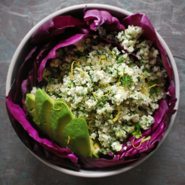 "Marinated Artichoke And Cauliflower ""cous Cous"""