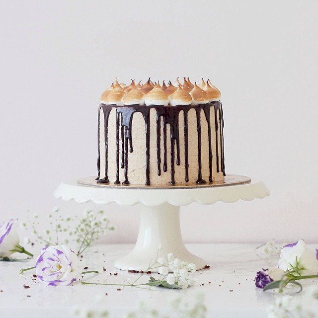 S'mores 4 Layer Cake