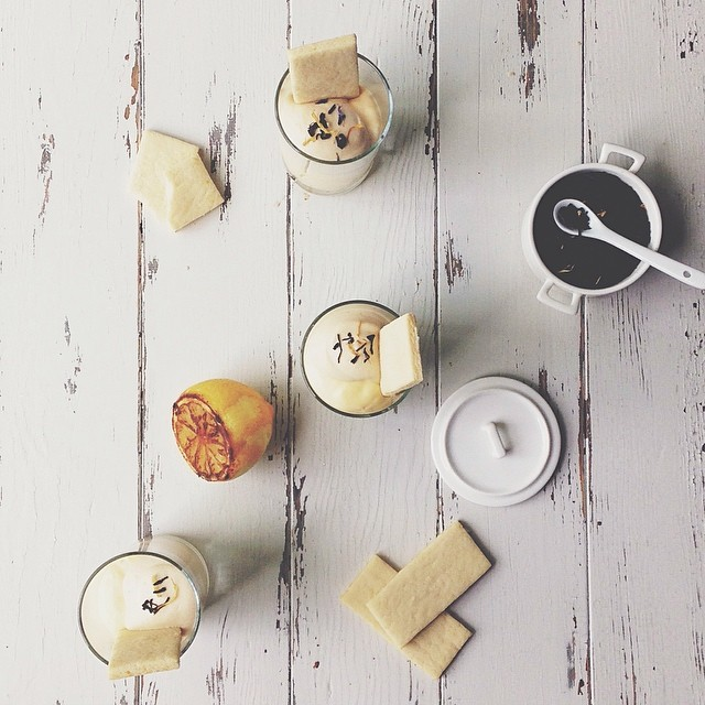 Charred Lemon Mousse With Earl Grey Cream And Lemon SablÉ