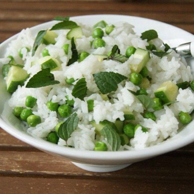 Mint And Pea Rice