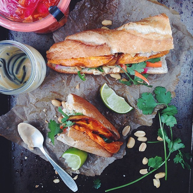 Potato & Pickled Carrot Bánh Mi With Miso Mayonnaise