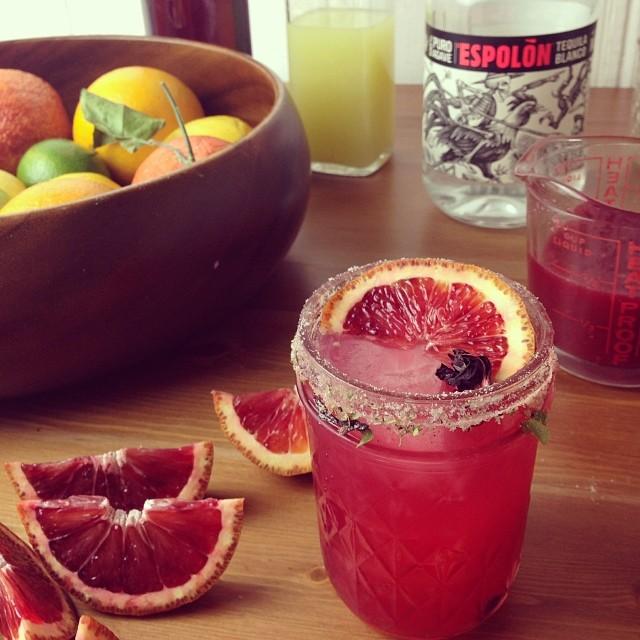 Blood Orange Hibiscus Margaritas