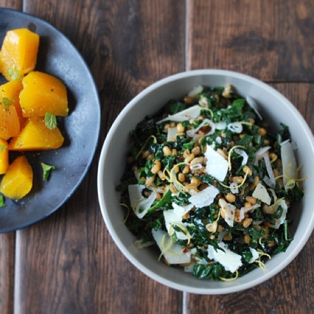 Wheat Berry, Rye, And Kale Salad