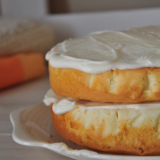 Butter Cake With Cream Cheese Frosting