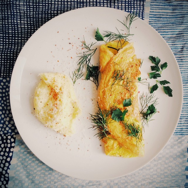 Omelette And Grits