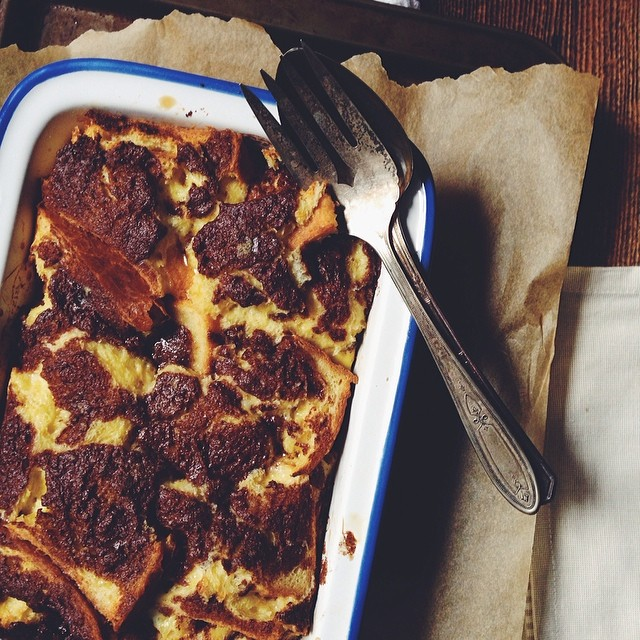 Marbled Cinnamon Baked French Toast