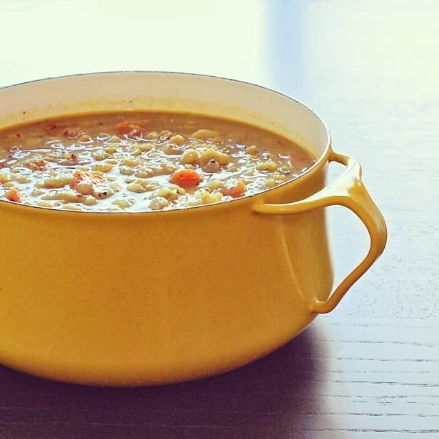 Golden Split Pea Soup With Sumac