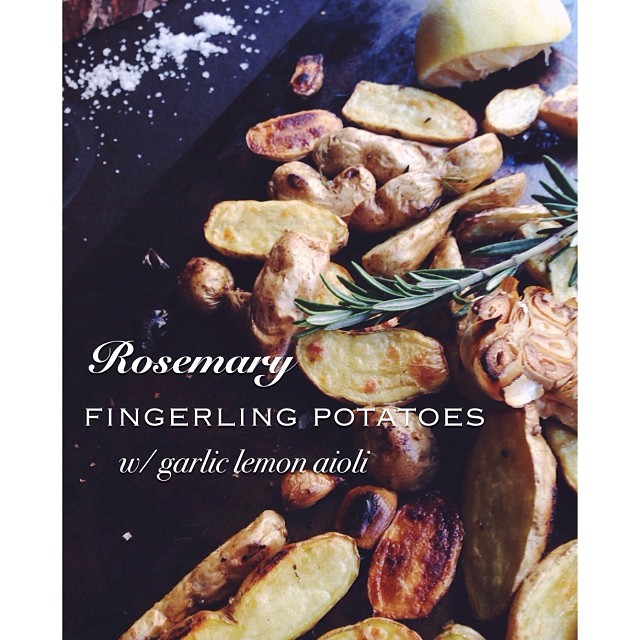Rosemary Fingerling Potatoes With Lemon And Garlic Aioli