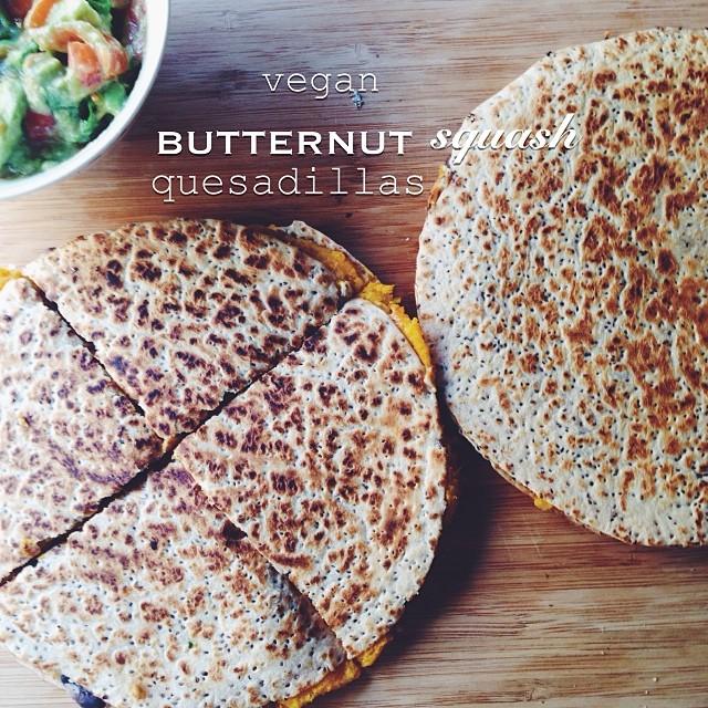 Vegan Butternut Squash Quesadilla