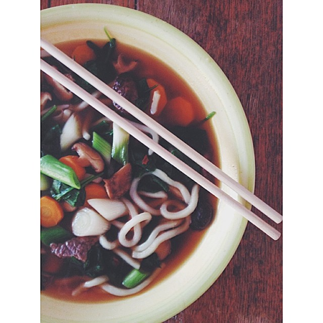 Beautiful Udon Noodle Broth