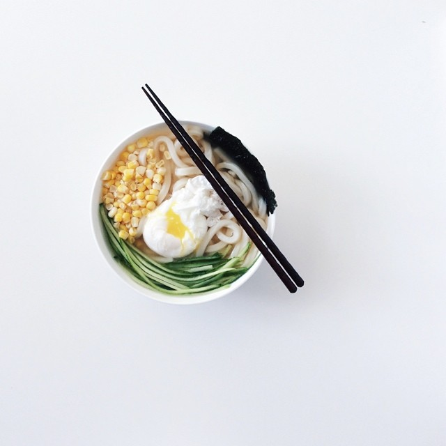 Udon + Poached Egg