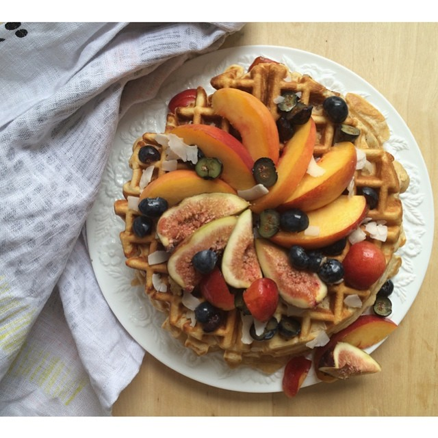 Banana-walnut Buckwheat Waffles