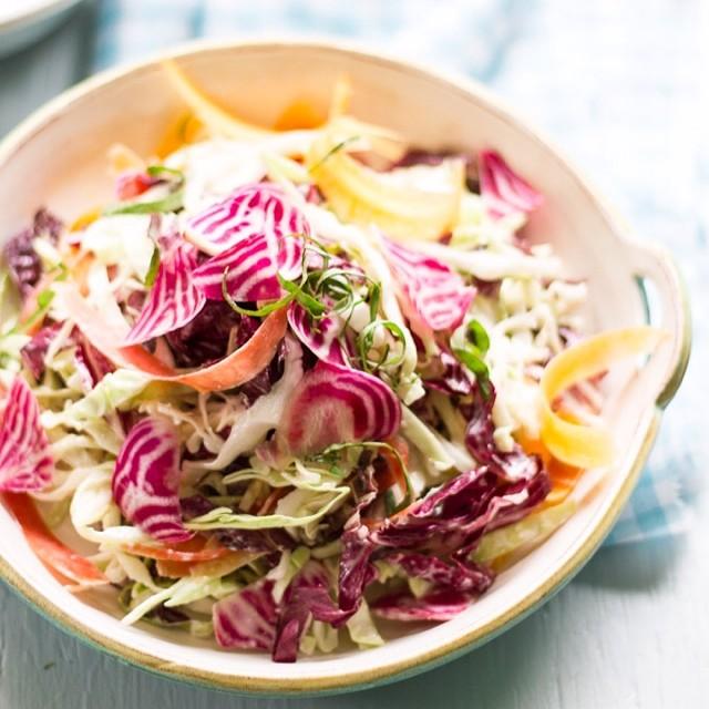 Summer Crunch Salad With Creamy Caesar Dressing