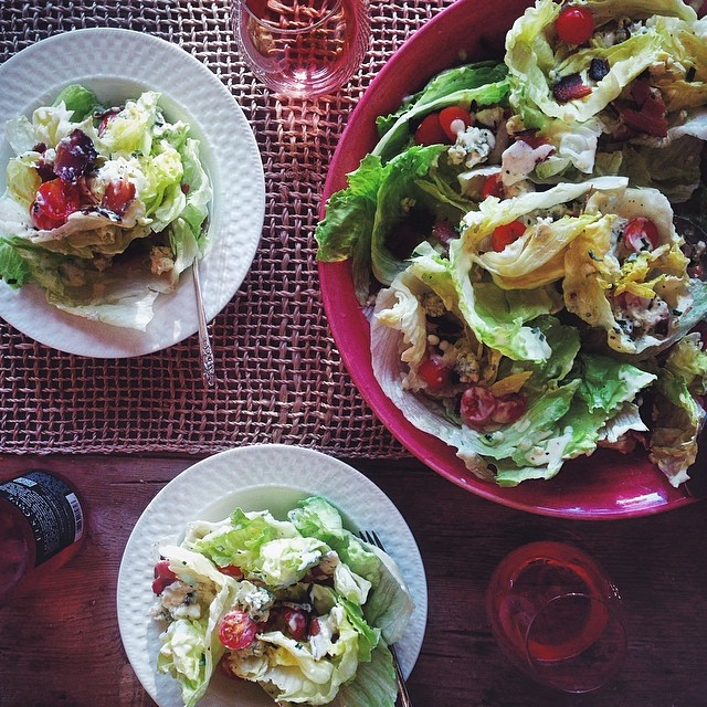 Deconstructed Wedge Salad With Lemon Buttermilk Dressing