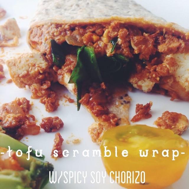 Tofu Scramble Wrap With Spicy Soy Chorizo