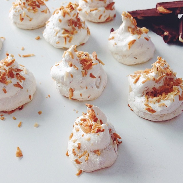 Toasted Coconut Meringues