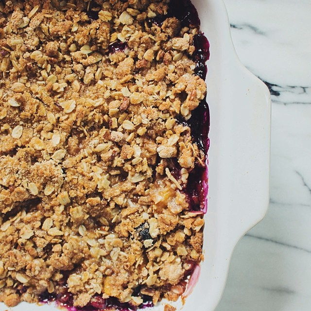 Blueberry Peach Crumble With Sage