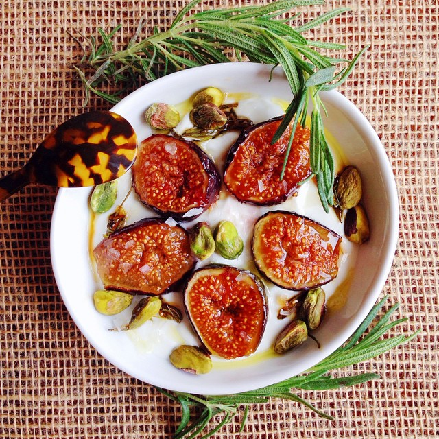 Greek Yogurt With Rosemary-honey Caramelized Figs
