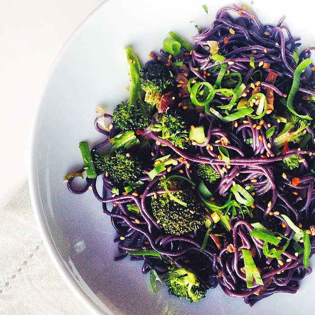 Black Rice Noodles with Broccoli & Sesame Ginger