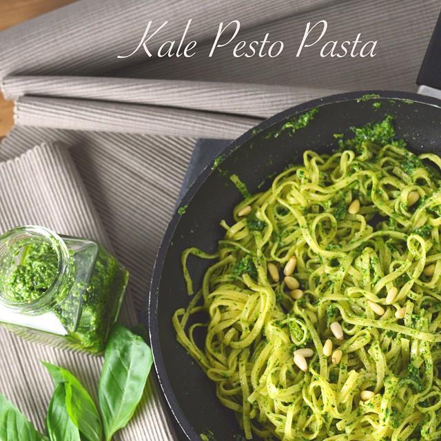 Egg Pasta With Kale Pesto