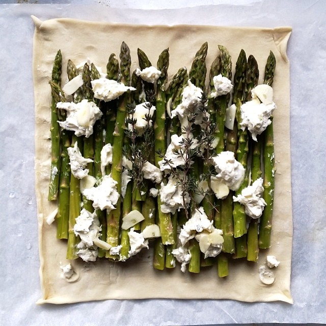 Roasted Asparagus And Mascarpone Tart