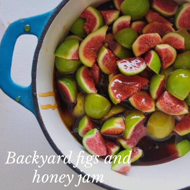 Backyard Figs And Raw Honey Jam
