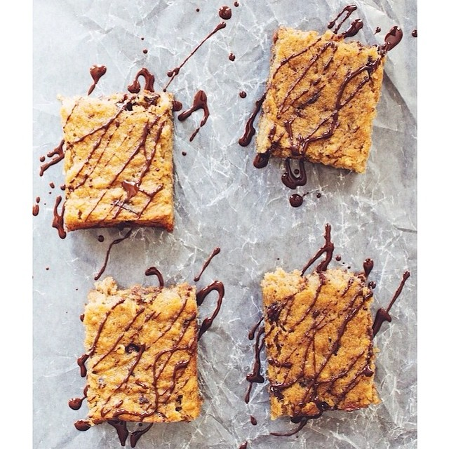 Chewy Coconut Chocolate Chip Blondies