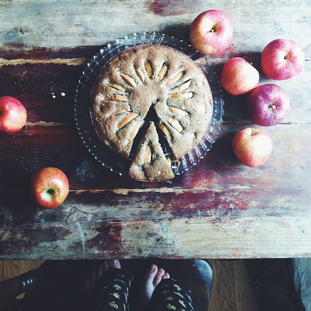 Gluten Free Buckwheat Chai Apple Cake