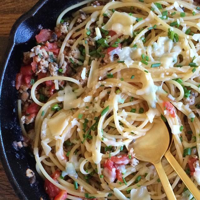 Mushroom Chicken Parmesan Pasta