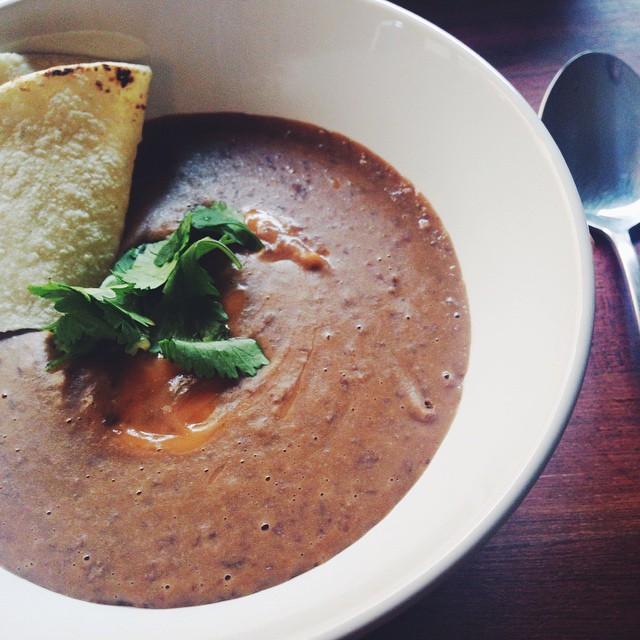 Spiced Coconut Black Bean Soup