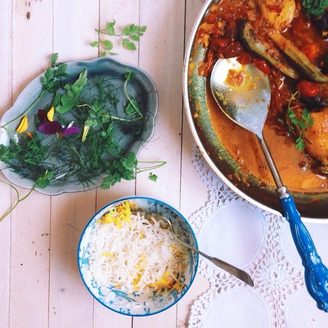 Saffron-scented Aubergine Stew In The Persian Manner