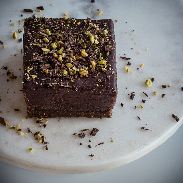 Vegan Chocolate Cheesecake Squares