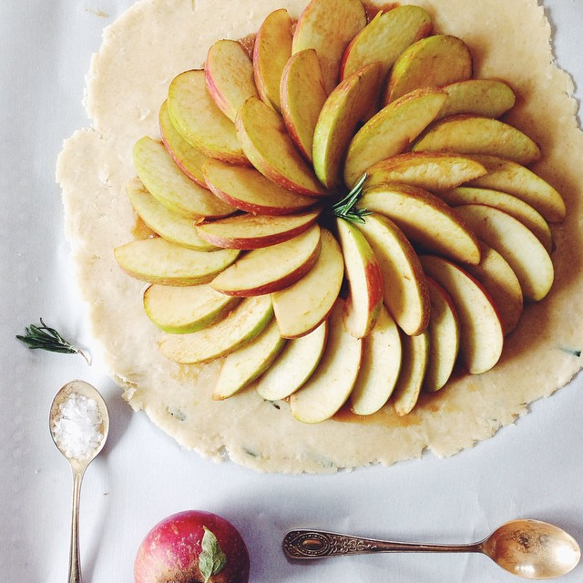 Apple Galette With Rosemary Apple Cider Caramel