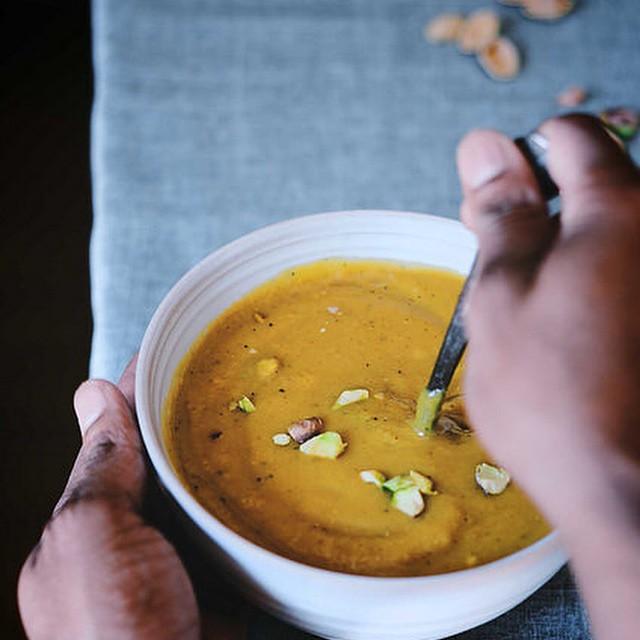 Caramelized Onion & Acorn Squash Soup