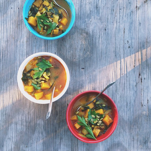 Red Curry Butternut Squash Stew