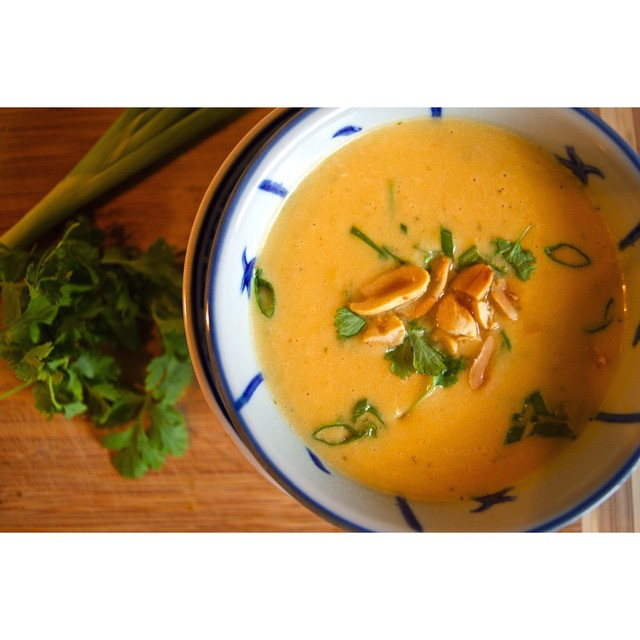 Thai Coconut Soup With Winter Squash