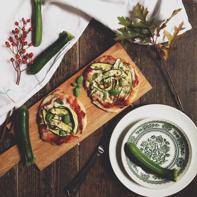 Mini Courgette & Taleggio  Pizza