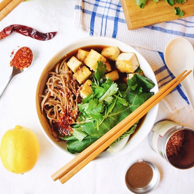 Soba Noodle Bowl In Miso Broth
