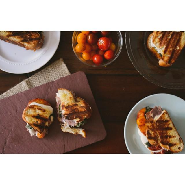 Caramelized Peach Caprese Panini