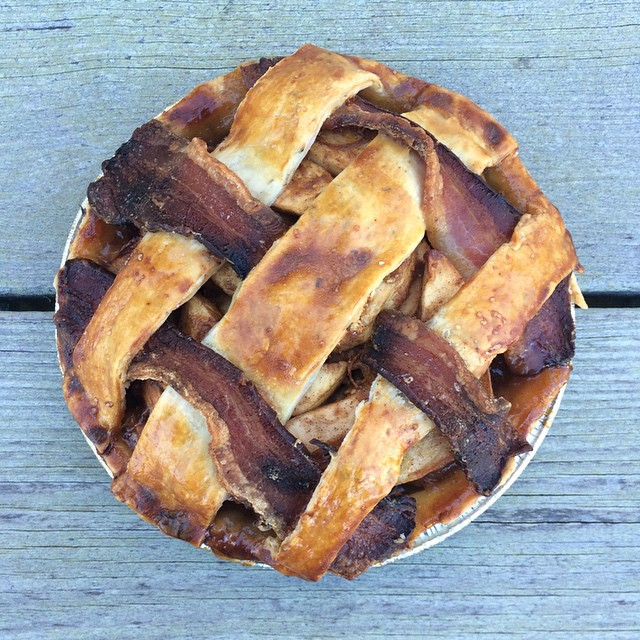 Bacon Lattice Rosemary Crust Apple Pie