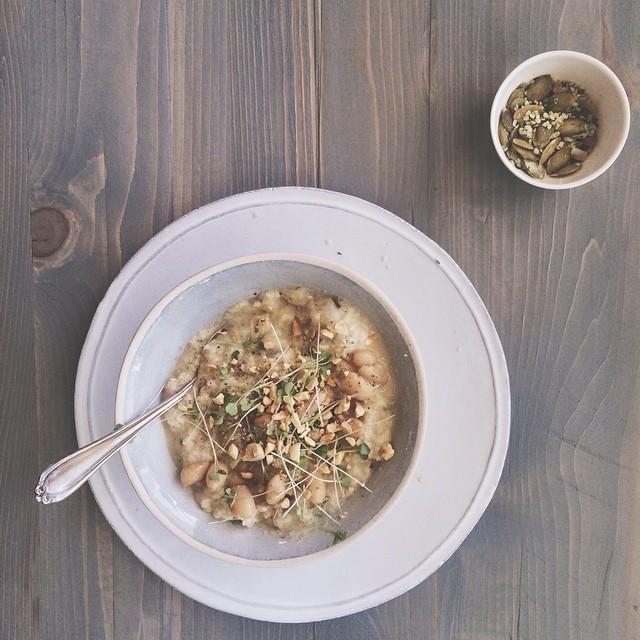 Cauliflower Hazelnut Soup With Fried Sage