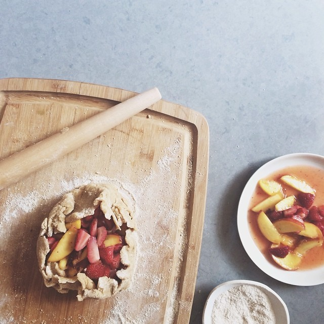 Mango & White Peach Galette With Coconut Cream