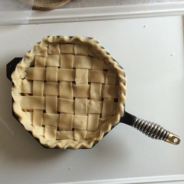 Pre Bake Christmas Skillet Pie