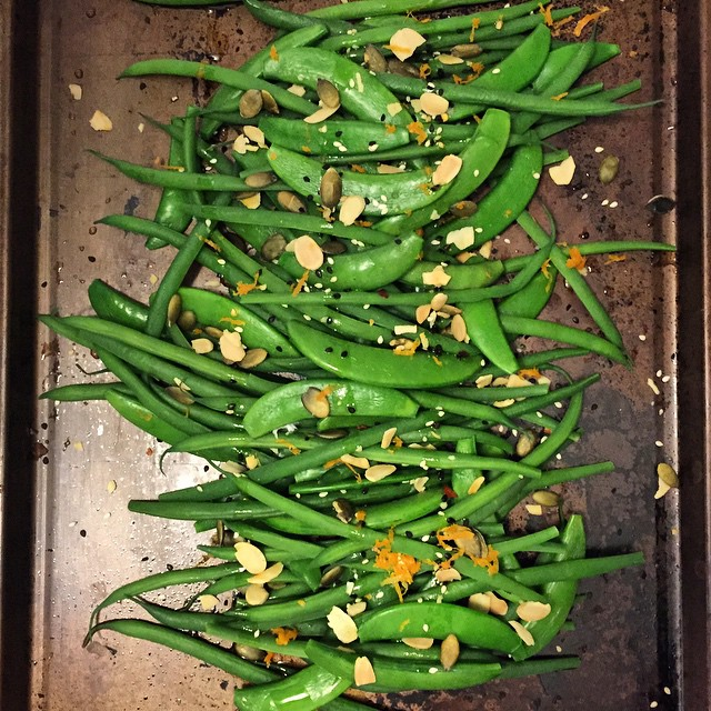 Haricots Verts+snow Peas+orange Zest
