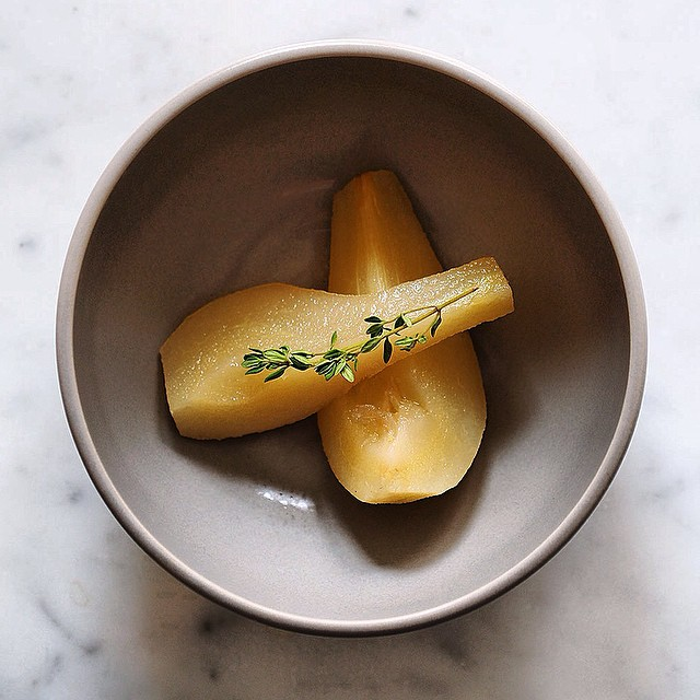 Poached Pears With Autumn Spices
