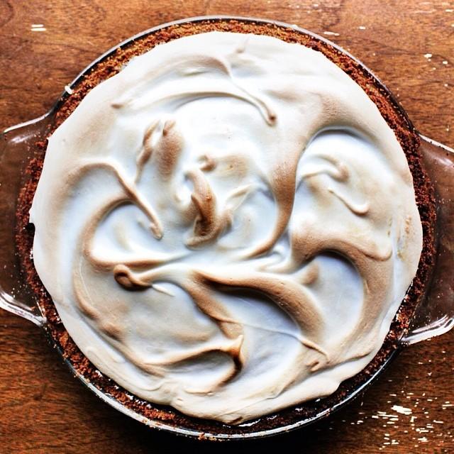 Pumpkin Pie With A Marshmallow Meringue