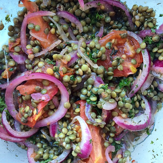 French Lentil Salad With Oven Roasted Tomatoes