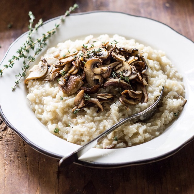 Baked Wild Mushroom Risotto