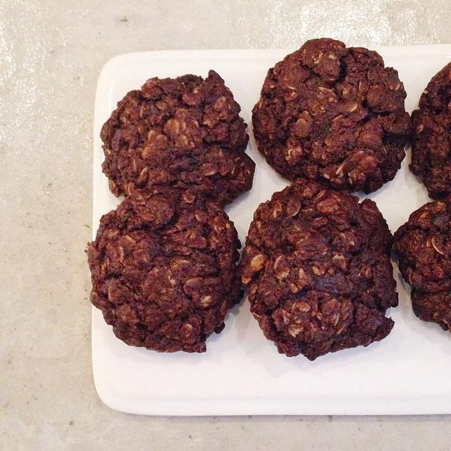 Spiced Chocolate Oatmeal Cookies